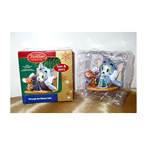 2006 Carlton Cards Heirloom Ornament Collection Tom & Jerry – Through The Mouse Hole