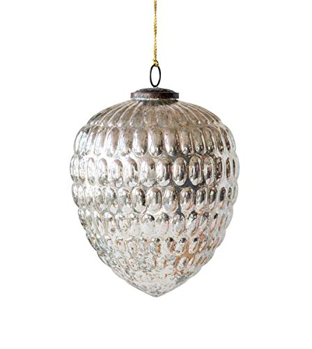 Creative Co-op Antique Silver Glass Ornaments