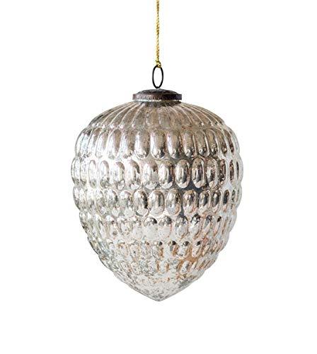 Creative Co-op Antique Silver Glass Ornaments