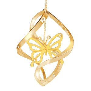 Mascot 24K Gold Plated Butterfly Mini Classic Spiral Best for Valentine's Day, Mother's Day, Birthday, Love Ones, Home Decors