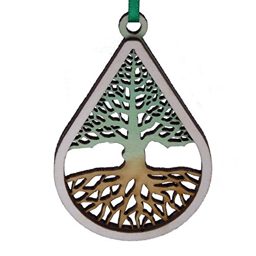 Wooden Holiday Ornament Tree of Life- Made in Maine – Gift Boxed