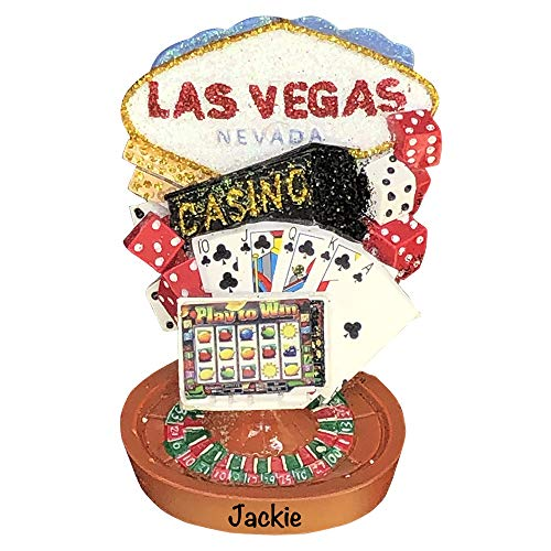 Holiday Traditions Las Vegas Landmarks – Unique Christmas Tree Ornament – Special Keepsake – Custom Vacation Decoration – Personalization Included