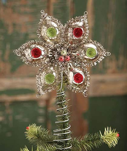 Bethany Lowe Designs Glass Indent Onion Tree Topper