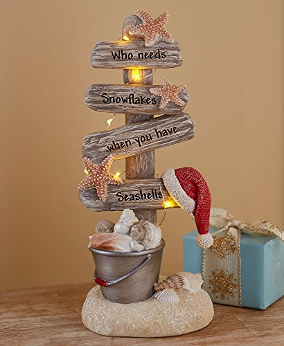 Lighted Christmas Tree with Beach Theme – Seas and Greetings