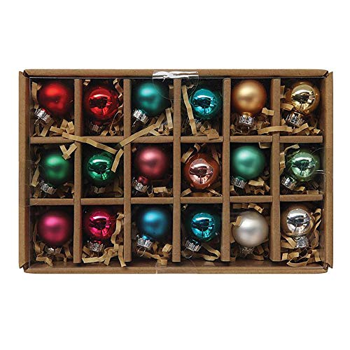 Creative Co-op Multicolor Glass Ball (Boxed Set of 18) Ornament