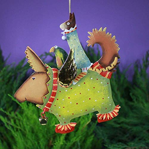 Patience Brewster Tin Terrier Carrier Figural Ornament #30420