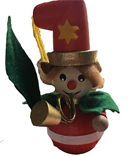 Steinbach Elf Playing Horn German Wooden Christmas Ornament