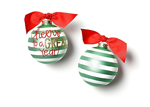 Coton Colors Cheers To A Great Year Glass Ornament