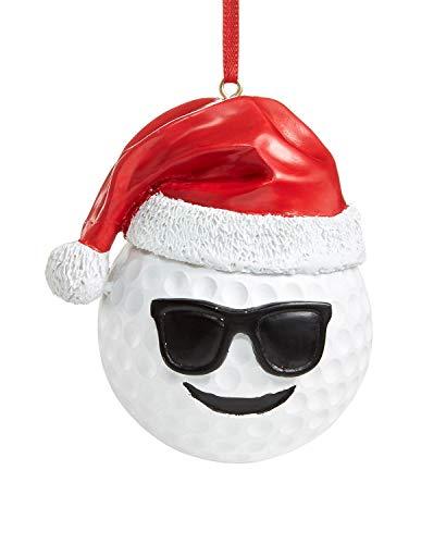 Holiday Lane Ornament (Red/White, Emoji Golf Ornament)