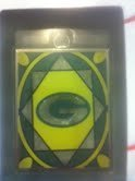 Green Bay Packers Official NFL 2 inch x 3 inch Stained Glass Christmas Ornament by Topperscot