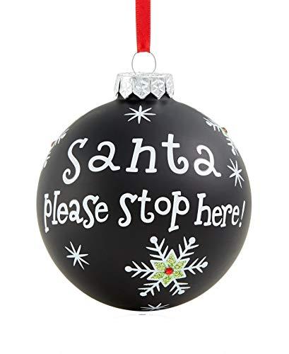 Holiday Lane Santa Please Stop Here Ornament