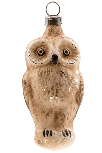 Marolin Small Owl MA2011112 German Glass Ornament w/Gift Box