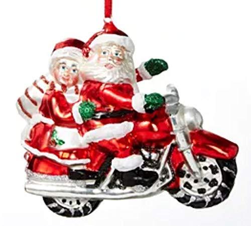 Holiday Lane Santas Favorites Santa & Mrs. Claus on Motorcycle Ornament