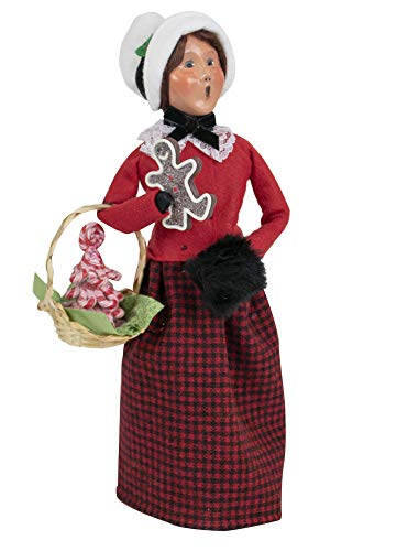 Byers' Choice Gingerbread Woman Caroler Figurine from The Christmas Market Collection #4461E (New 2019)