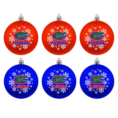 Topperscot Boelter Brands NCAA Florida Gators Home & Away Shatter Proof Ball Ornament Gift Set of 6