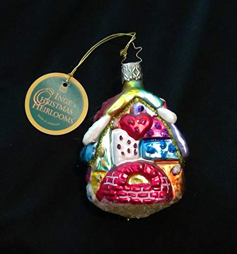 Quilt Cottage by Inge Glas Limited Edition Retired Christmas Ornament