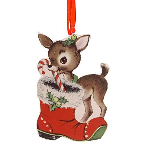 Retro Christmas Dummy Board Reindeer Snowman Santa Rl6847 Boot