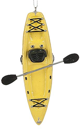 Ganz U.S.A., LLC Yellow Kayak Ornament Christmas Decorations for Holiday Tree Decor Xmas Gifts for a Kayak Enthusiast
