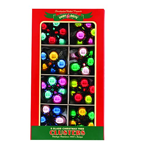 Christopher Radko Xmas Confetti 6Pc 1″ Clusters Set of 8