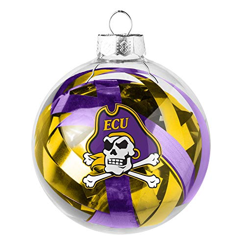 Topperscot NCAA East Carolina Pirates Holiday Tinsel Ball Ornament
