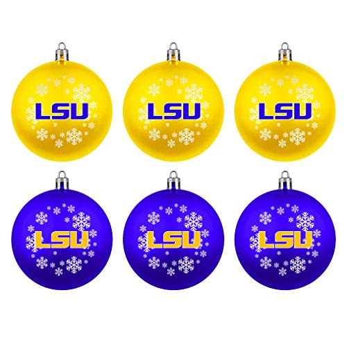 Boelter Brands NCAA LSU Tigers Home & Away Shatter Proof Ball Ornament Gift Set of 6