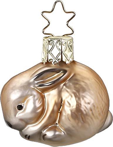 Inge-Glas Bunny 10011S019 German Glass Christmas Ornament
