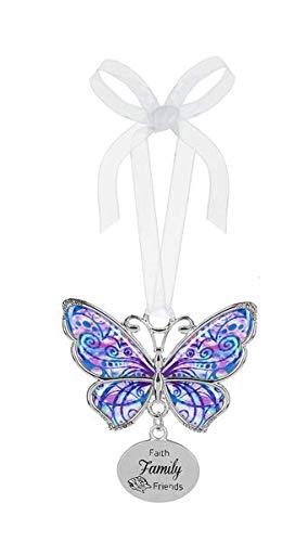 Ganz Butterfly Ornament Faith Family Friends