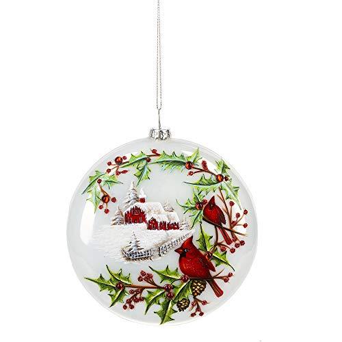 MIDWEST-CBK Ganz Cardinal Disk Ornament