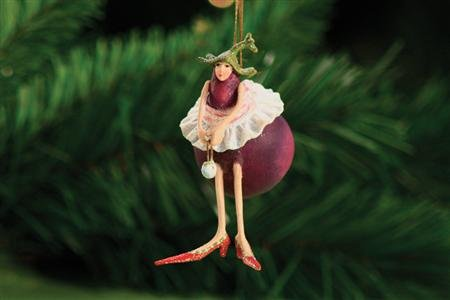 Patience Brewster Mini Ornament – Eggplant