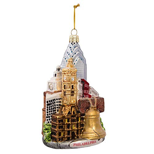 Kurt Adler Glass Philadelphia Cityscape Ornament