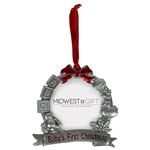 Midwest-CBK Baby's First Christmas Ornament Frame