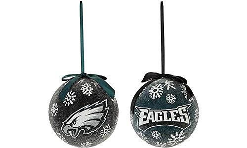 NFL 6″ LED Ornaments (Set of 2) (Philadelphia Eagles)
