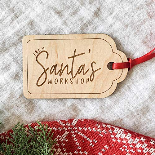 From Santas Workshop Wooden Christmas Gift Tag