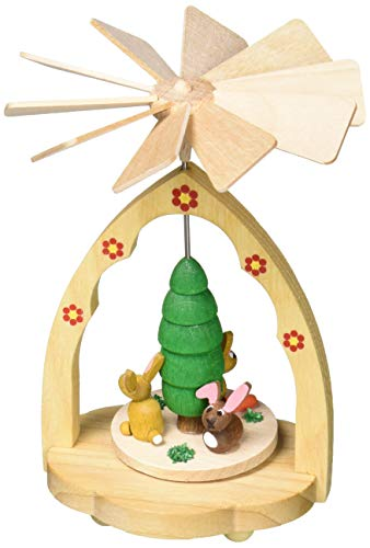Alexander Taron 1712 Richard Glaesser Mini Pyramid-Rabbits-4.25″ H W x 3.25″, Brown