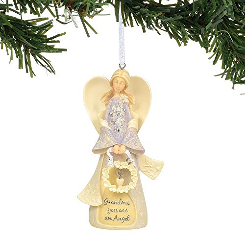 Enesco Foundations Grandmother Angel Ornament, 4.75″, Multicolor