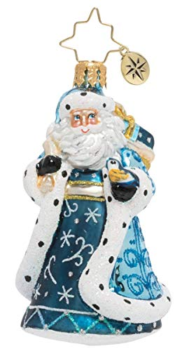 Christopher Radko Hand-Crafted European Glass Christmas Ornaments, Debonair Winter Santa