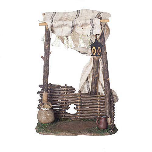 Fontanini, Nativity Building, Shepherd Tent, 7.5″ Scale, Collection, Handmade in Italy, Designed and Manufactured in Tuscany, Polymer, Hand Painted, Italian, Detailed