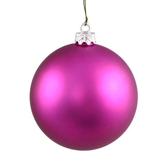2.75″ Magenta Matte Christmas Tree Ball Ornaments | Set of 12
