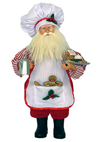 Santa's Workshop Baker Claus Figurine, 15″ Tall, Red/White
