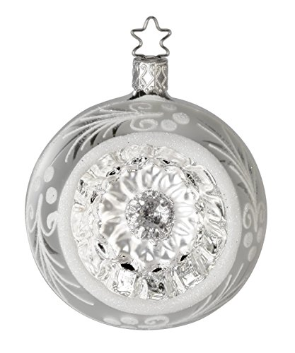 Inge Glas Kugel Reflector Ball 8 cm Silver Reflections 20191T108 German Glass