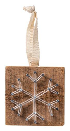 Primitives by Kathy String Art Snowflake Christmas Ornament