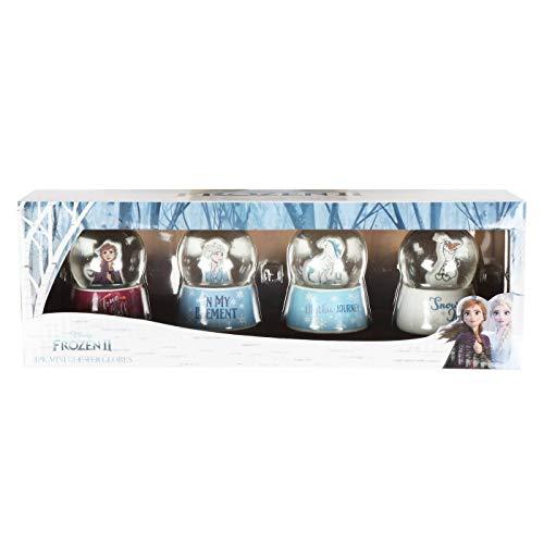 D1 Frozen II Set of 4 Glitter Snowglobes