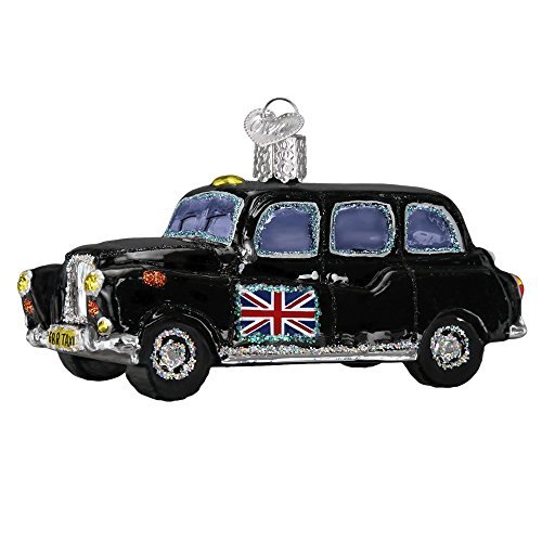Prince of Scots Old World Christmas British Taxi Glass Blown Ornament for Christmas Tree (Gift Boxed)