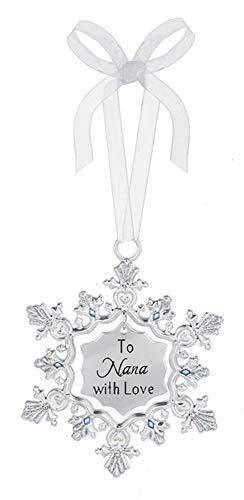 Ganz To Nana with Love Zinc Decorative Hanging Ornament, Silver, 25/8″ W. x 33/8″ H.