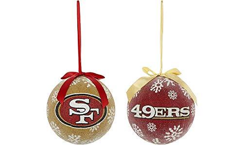 NFL 6″ LED Ornaments (Set of 2) (San Francisco 49ers)