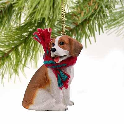 1 X Beagle Miniature Dog Ornament