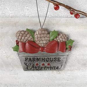 Blossom Bucket 198-50006″ All Roads Lead Home Milk JUG with Pine Cones Ornament, Small, Multi-Colored