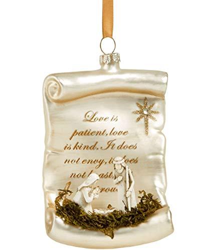 Holiday Lane Joy to The World Prayer Scripture Ornament