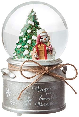Precious Moments May Your Holidays Be Filled with Winter Thrills 10th Annual Snowman Resin and Glass Snow Globe 191101 Waterball, One Size, Multi