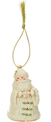Lennox Holiday Cheer Santa Porcelain Ornament with 24K Gold